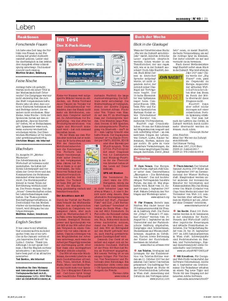 Heft Ausgabe Nr. 40 - Seite 23